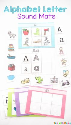 Kids will have fun learning their alphabet letter sounds with these fun sorting mats in their literacy centers. Kindergarten kids can use this in the classroom or at home. These free printables and word work activity is great for small groups! Preschool Literacy, Kindergarten Activities, Literacy Centers, Literacy Bags, Reading Centers, Daily Activities, Reading Activities, Toddler Activities, Teaching Letters