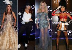 Confira os looks que se destacaram no tradicional baile de gala de carnaval da revista Vogue Brasil.