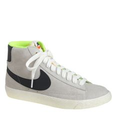 Gray Women's Nike Suede Blazer Mid Vintage Sneaker Gray Women's Nike Suede Blazer Mid Vintage Sneakers Size: 8! Color: Ash/Black/Lime Green! In perfect condition, only worn a couple of times! These shoes are SO fabulous on! So so sad I'm having to sell them, they are just too big!! Because we're in the midst of a major sneaker craze, we had to have these hard-to-find sneakers from one of the most iconic athletic shoe brands out there. The Blazer was Nike's first-ever basketball shoe—it made…