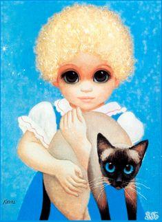 Big Eyes Blondie by Margaret Keane Big Eyes Margaret Keane, Keane Big Eyes, Margareth Keane, Keane Artist, Big Eyes Paintings, Hawaiian Art, Sad Pictures, Super Cat, Eye Art