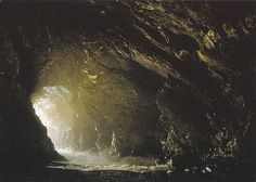 Avalon Camelot King Arthur: Merlin's Cave at Tintagel. King Arthur Legend, Legend Of King, Matte Painting, Merlin, Mists Of Avalon, Roi Arthur, Cottage In The Woods, England, Romance