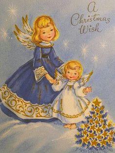 A Christmas Wish - vintage card