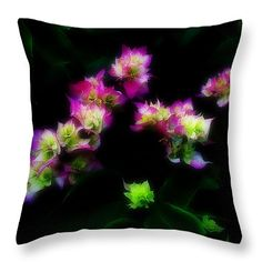 """Violeta Blanco Verde Throw Pillow 16"""" x 16"""" by Russell Latino"""