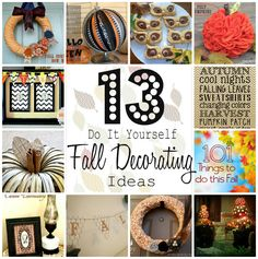 13 DIY fall decorating ideas that are easy.