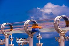 Water slide on Disney cruise ship http://disneycruise.disney.go.com/ships-activities/ships/dream/pools/aquaduck/