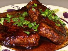 Pork chops with balsamic glaze-yum!