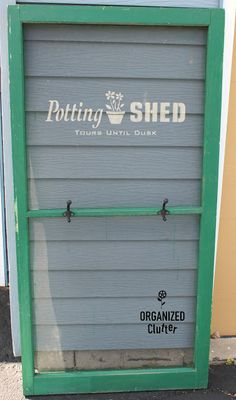 organizedclutter.net : Potting Shed garden tool holder screen - using Funky Junk's Old Sign Stencils