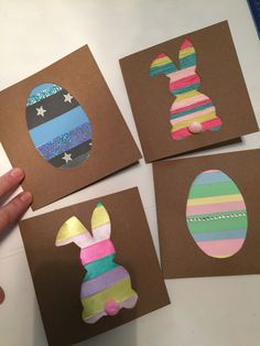 Top 10 Interesting Easter Crafts for Kids Easter Arts And Crafts, Spring Crafts, Kids Crafts, Easter Crafts For Seniors, Diy Easter Cards, Homemade Birthday Cards, Easter Traditions, Easter Activities, Art For Kids