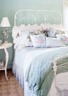 Shabby Chic Bedroom - white ~pastel ~pink