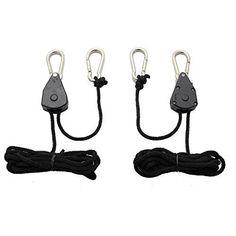 iPower 1/8 Inch 8-Feet Long Heavy Duty Adjustable Rope Clip Hanger, 150lb Capacity