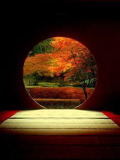 Meigetsu-in, Temple, Kamakura, Japan Japanese Landscape, Japanese Architecture, Japanese Gardens, Japanese Interior, Japanese Design, Foto Transfer, Art Asiatique, Fotografia Macro, Art Japonais