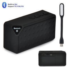 11.37$  Buy now - Mini Portable smart Bluetooth Speaker, Wireless Speakers FM Audio radio mode Player column Support TF Card usb drive with led  #magazine