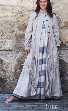 """Верхняя одежда ручной работы. Ярмарка Мастеров - ручная работа Легкое льняное пальто """" Бохо шик"""". Handmade."""