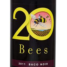 20 BEES BACO NOIR VQA Organic Wine, Wine List, Bar Carts, Bees, Wine Chart, Bar Cart