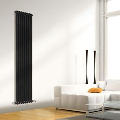 High Gloss Black Column Radiators combine contemporary style with classic.