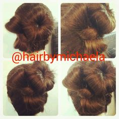 Bun with a side bow https://m.facebook.com/photo.php?fbid=1375417519398673&id=100007913132339&set=a.1375417399398685.1073741827.100007913132339&source=43