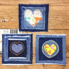 Heart patch heart patches denim patch denim patchwork patched denim patches, patch handcrafted denim patches jacket patch heart love Old Jeans, Denim Jeans, Patches, Denim Flowers, Fabric Hearts, Jean Crafts, Flower Patch, Denim Bag, Heart Patterns