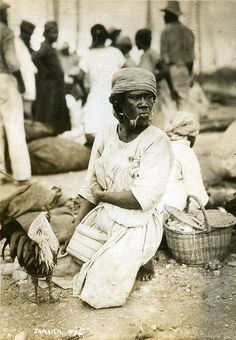 Out of many, one people: Jamaica in the – in pictures - woman smoking pipe West Indies, Commonwealth, Haiti, Trinidad, Old Photos, Vintage Photos, Old Jamaica, Cuba, Jamaica History