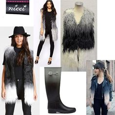 Magnificent items for your Winter wardrobe #NicciWinter16 #gilet #faux #fur #chic #shaggy #ombre #trend