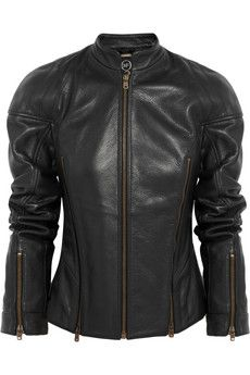 McQ Alexander McQueen Textured-leather motocross jacket | THE OUTNET