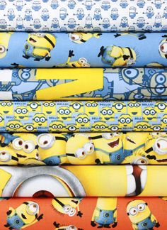 Quilting Treasures, One In a Minion in FAT QUARTERS 7 Total