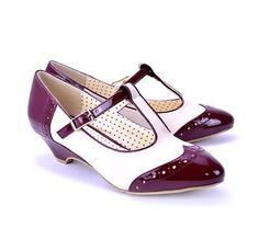Very cute.  From MooShoes.com Ione in Wine from BAIT Footwear