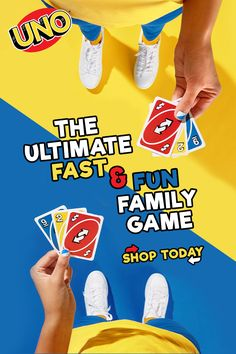 UNO is the classic and beloved card game that's easy to pick up and impossible to put down! Players take turns matching a card in their hand with the current card shown on top of the deck either by color or number. Perfect for family game nights, it's fast, fun, for everyone! Buy now.