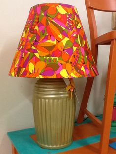 70s mod lamp and shade $19