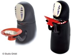 Spirited Away, No Face Money Box. The new automated money box speaks, plays music from the film, and burps after every deposit! - Wow -Erica^^