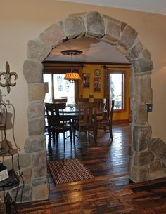 Kitchen Stone Doorway Arches Design, Pictures, Remodel, Decor and Ideas - page - home is a daydream - Arch Doorway, Doorway Ideas, Archway Decor, Stone Archway, Hacienda Style, Mediterranean Home Decor, Home Interior Design, Home Remodeling, House Plans