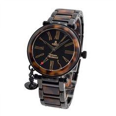 Vivienne Westwood(ヴィヴィアンウエストウッド) VV006BKBR レディース オーブチャーム 腕時計 - 拡大画像