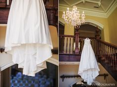 I love to be a little more bold and creative and so with Brian and June on door watch, I was able to create these images ofEmma's magnificent wedding dress hung from the gorgeous grand staircase in Middleton Hall. www.2tonephotography.co.uk