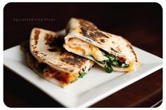 spinach-quesadillas by Amber (Sprinkled With Flour), via Flickr