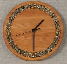 nice wood clock | Unique wall clocks - large wooden clock - rustic wood clock - unique ...
