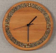nice wood clock | Unique wall clocks - large wooden clock - rustic wood clock - unique ...