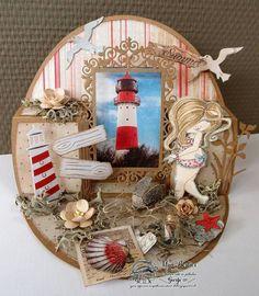 Beach Cards, Sea Theme, Marianne Design, Vintage Cards, Vignettes, Box, Pop Up, Besties, Gingerbread