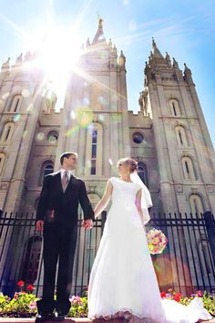 Wedding at Salt Lake, LDS Temple