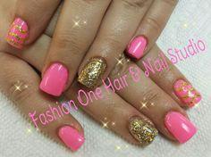 #pink #coloredgel #nailsbytammy #pretty