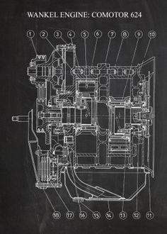 """Beautiful """"Wankel Engine COMOTOR metal poster created by Nicram K. Our Displate metal prints will make your walls awesome. Nikola Tesla Inventions, Wankel Engine, Power Unit, Patent Drawing, Motor Engine, Combustion Engine, Quantum Mechanics, Spark Plug, Good Company"""