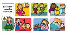 Dibujos para catequesis: PECADOS CAPITALES