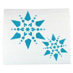 Tiskirätti on koristeltu kangasvärin ja sablonan avulla.