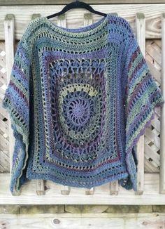 PDF Crochet Pattern A Walk in the Woods Poncho Crochet Pattern Boho Crochet Patterns, Crochet Patterns For Beginners, Crochet Shawl, Crochet Designs, Easy Crochet, Free Crochet, Knitting Patterns, Knit Crochet, Crochet Baby Poncho