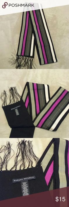 Banana Republic Scarf Striped scarf with fringe from Banana Republic. Banana Republic Accessories Scarves & Wraps