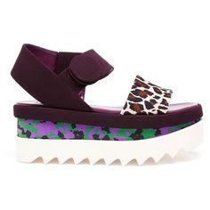 Stella McCartney Cornelia Flatform Sandals (€375) ❤ liked on Polyvore