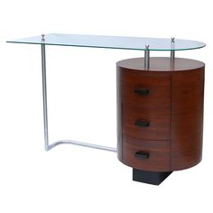 Rare Art Deco Desk by Gilbert Rohde for Herman Miller   From a unique collection of antique and modern desks at http://www.1stdibs.com/furniture/storage-case-pieces/desks/