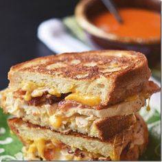 chicken bacon ranch grilled cheese!
