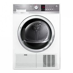 Fisher & Paykel 8kg Condensing Dryer DE8060P2: Our 8 kg Condensing dryer is perfect for doing the laundry quickly and efficiently. The condensing technology means water is condensed and either drained from the dryer or collected into a tank. This reduces the amount of moisture and allergens released into your laundry compared to a front venting dryer. A healthier choice for asthma sufferers.