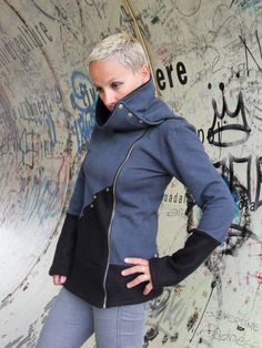 Hey, I found this really awesome Etsy listing at http://www.etsy.com/listing/163780101/sweatshirt-jacket-for-women-in-cotton