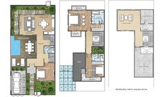 Dau An, Small Villa, Indian House Plans, Floor Layout, Indian Homes, Plan Design, Floor Plans, How To Plan, Architecture