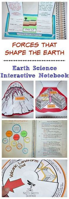 Forces That Shape The Earth, Earth Science Interactive Notebook: Plate Tectonics includes the following concepts: Forces that Shape Earth Earthquakes Volcanoes Volcanic Landforms